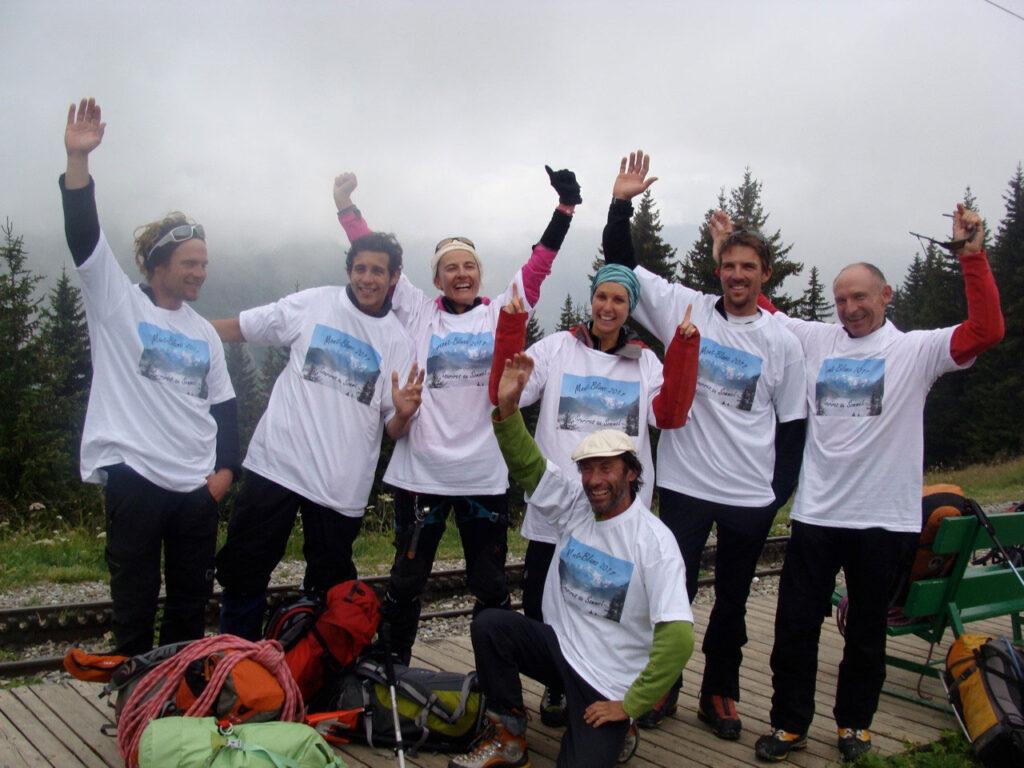 La Grande Traversée des Alpes de Gisèle Lafond avec Marion en 2012