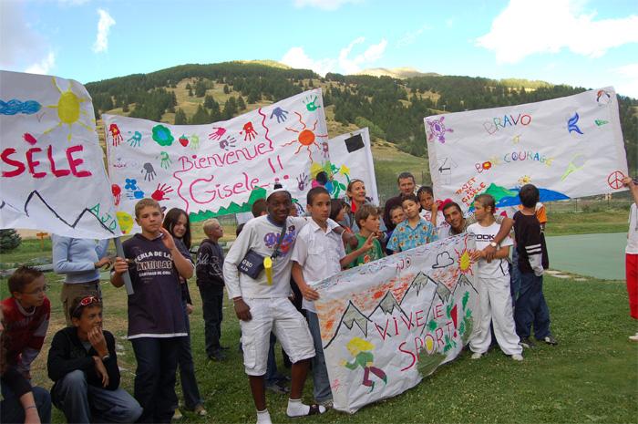 Gisèle Lafond - 2006 La Grande traversée des Alpes avec les jeunes de l'AJD